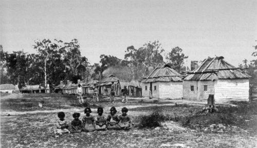 Aboriginal reservation at 'Coranderrk', just outside Melbourne, late 19th century.