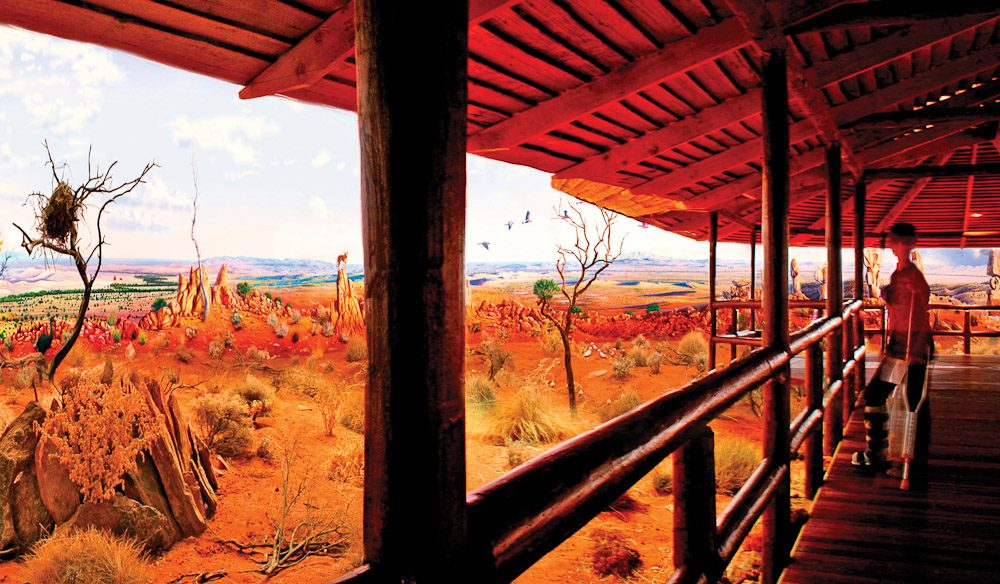 Image from the a Cyclorama in Broken Hill