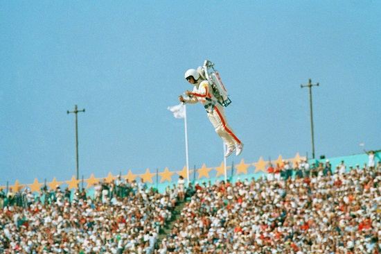 Jetpack Man at the 1984 Olympics