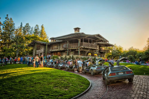 5 DeLoreans at the real back to the Future House