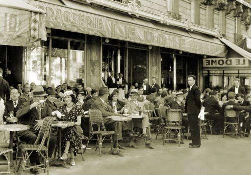Parisian pavement cafe, 1930s.