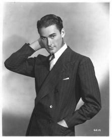 Errol Flynn as a young actor
