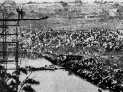 High dive tower on Yarra Bend, March 1918