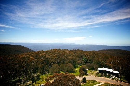 View from the summit of Mount Donna Buang, present day
