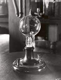 An Edison light bulb