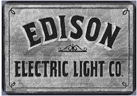 Sign for the Edison Electric Light Co