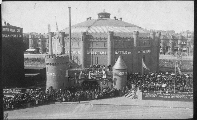A picture of Boston's Cyclorama building