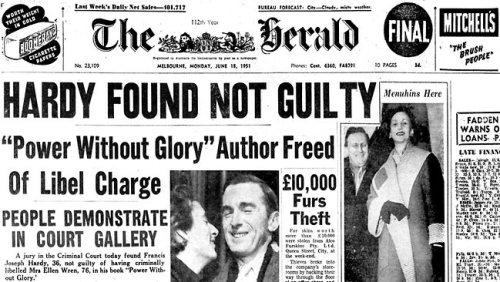 Hardy found not guilty of defamation of John Wren