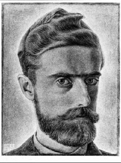 M.C. Escher, self portrait