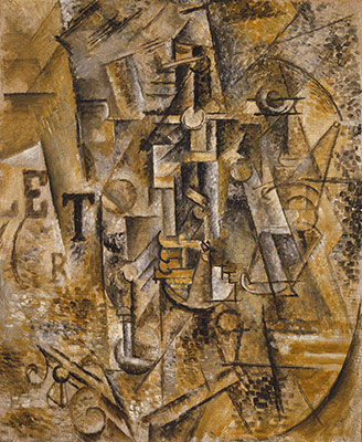'Still Life with Bottle of Rum', 1911, a Cubist Picasso