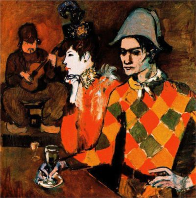 'Harlequin with Glass', 1905, from Picasso's 'Rose' period