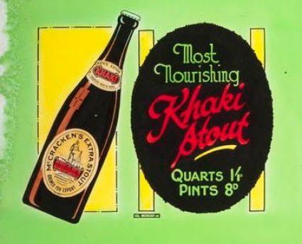 Local beer ad, circa World War I.