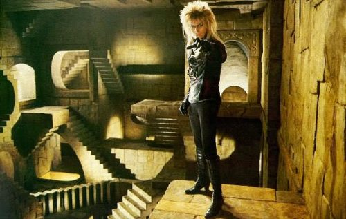 Impossible objects used in the movie 'Labyrinth'