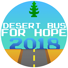 The logo for charity fundraiser 'Desert Bus for Hope'
