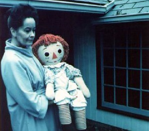 The real Annabelle doll: with Lorraine Warren