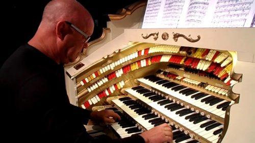 The elaborate keyboard of The Forum Theatre's Wurlitzer, post restoration