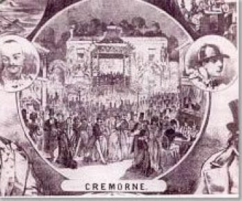 Promotional flyer for the Cremorne Gardens.