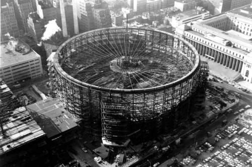 Madison Square Gardens under construction
