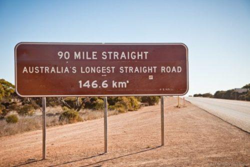 The world's longest straight road: Nullarbor Plain