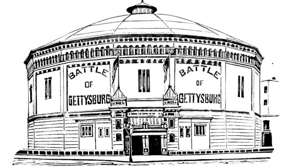 Pciture of Chicago's former Cyclorama building