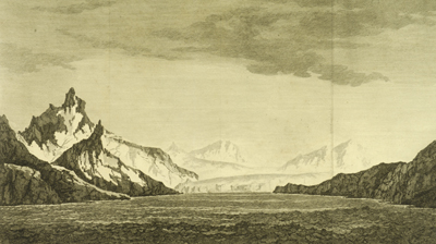 Sketch of South Georgia Island from Captain Cook's expedition
