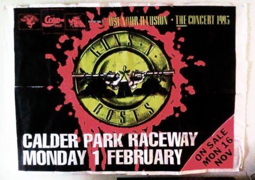 Poster for Guns n Roses at Calder Park