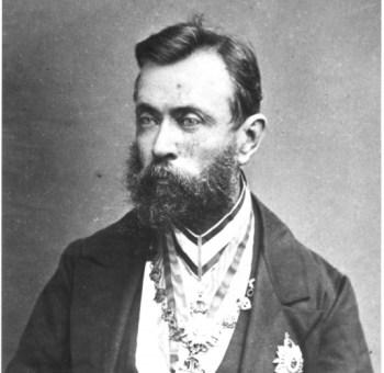 A pciture of Ferdinand Von Mueller, former director of Victoria's Botanic Gardens