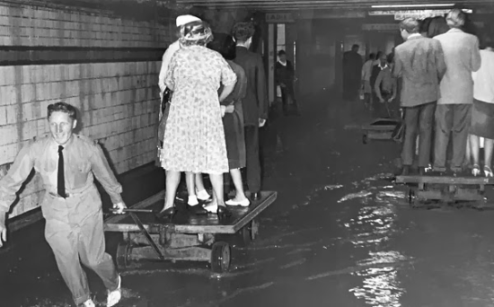 The Degraves Street Subway in a flood
