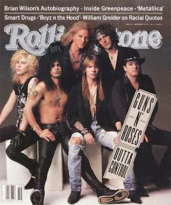 Height of fame; Gunners on the cover of Rolling Stone, 1993