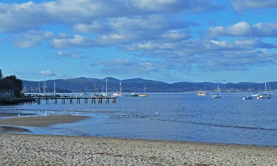 Sandy bay, Hobart; Errol Flynn and his mother used to swim here.