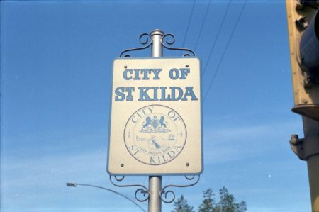 Sign for the city of St Kilda