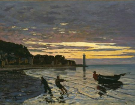 'Towing of a Boat at Honfleur', by Monet, 1864