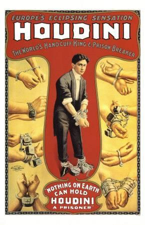 Early poster for Harry Houdini