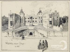 A drawing of Wimbledon Manor House, London