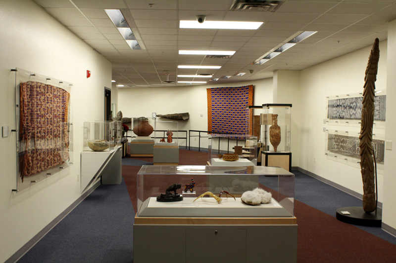 The Mary Herron Community Conference Center with exhibits on display