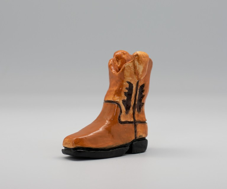 The Boot by Timothy Wright. Third place, three-dimensional art, ages 16 to 19. NFS.