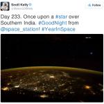Screenshot of Scott Kelly's tweet