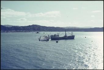 Salvage ship Holmpark and the TEV Wahine