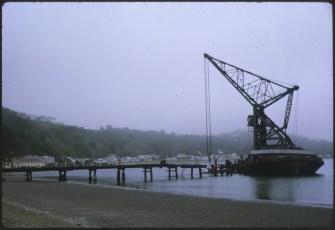Floating crane Hikitia at Seatoun Wharf