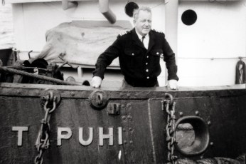 Captain Athol Olsson of the tug Tapuhi