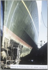 TEV Wahine in floating dock for annual survey '67