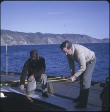 Two men working on the TEV Wahine wreck