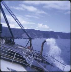 Salvage work aboard the TEV Wahine wreck