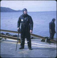 United Salvage diver abroad the TEV Wahine wreck