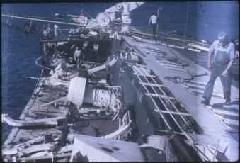Salvaging work aboard the TEV Wahine wreck