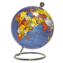 Small Blue Desk Globe