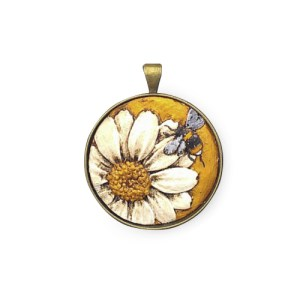 Craig Fletcher Ceramic Daisy Pendant, Jewellery, Gift, Ceramic