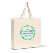 Nairn Street Preservation Society Tote Green, Green Print Tote Bag, Bag