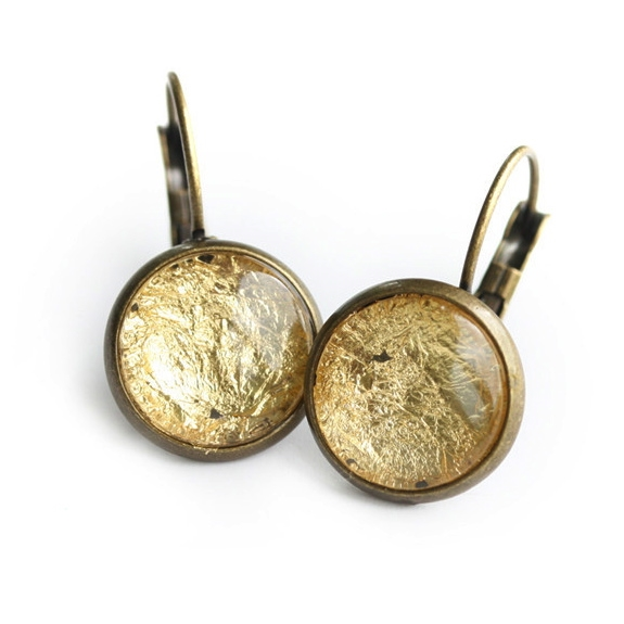 Gold Foil Earrings Cloud Nine