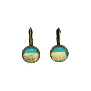 Turquoise & Gold Foil Earrings